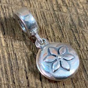 Rare Pandora 925 ALE 2 Piece Flower Charm